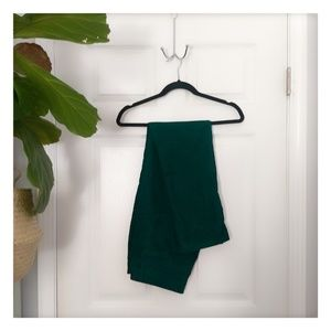 Emerald green corduroy 10 pants